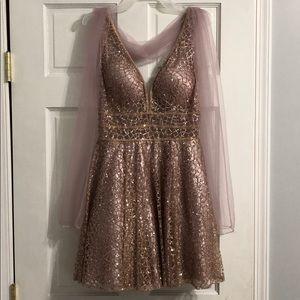 """""""Dancing queen"""" pink short glitter dress"""